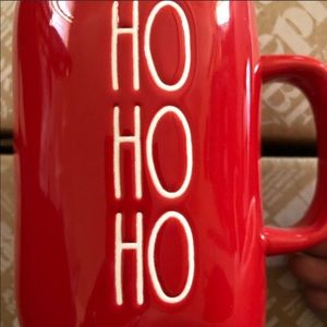 Rae Dunn Red Ho Ho Ho Mug New